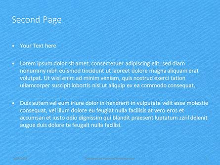 Jeans Texture Background Presentation, Slide 2, 15967, Abstract/Textures — PoweredTemplate.com