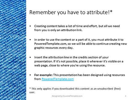 Jeans Texture Background Presentation, Slide 3, 15967, Abstract/Textures — PoweredTemplate.com