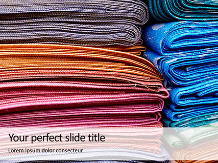 Careers/Industry: Pile of Colored Area Rugs Presentation #15979