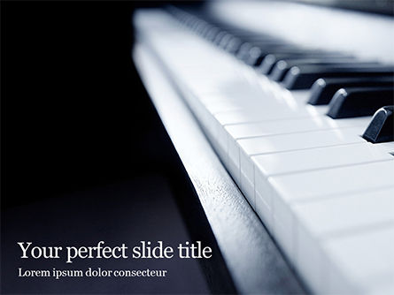 Art & Entertainment: Close-up Van Piano Toetsen PowerPoint Template #15992