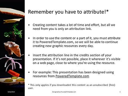 Flying in Motion Ingredients  for Tasty Sandwich Presentation, Slide 3, 16008, Food & Beverage — PoweredTemplate.com