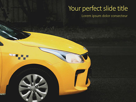 Cars and Transportation: Gele Taxi PowerPoint Template #16026