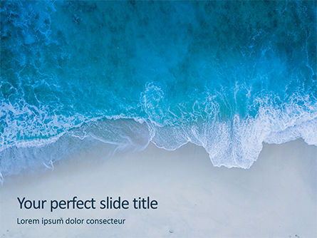 Nature & Environment: Oceaan Surfschuim PowerPoint Template #16028