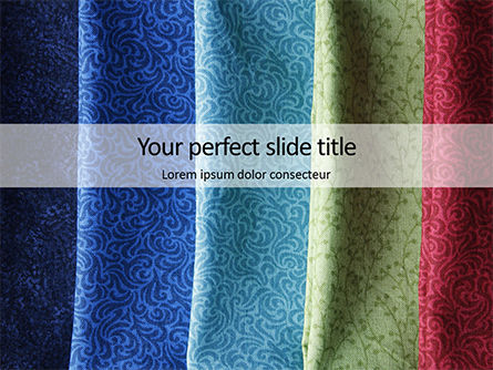 Careers/Industry: Colorful Silk Fabric Presentation #16041