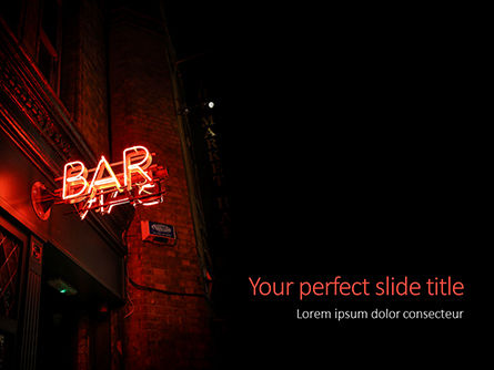 Food & Beverage: Neon Bar Sign Presentation #16049