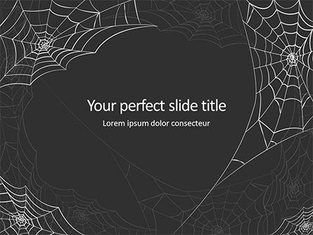 Abstract/Textures: クモの巣の背景 - PowerPointテンプレート #16052