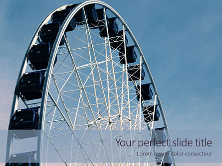 Art & Entertainment: Ferris Wheel with Blue Sky Presentation #16070