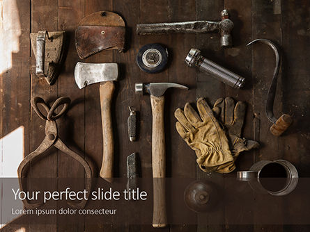 Utilities/Industrial: Set of Old Used Tools Presentation #16078