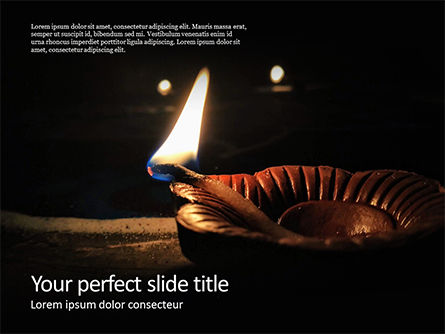 Holiday/Special Occasion: Diwali Diya Gratis Powerpoint Template #16080