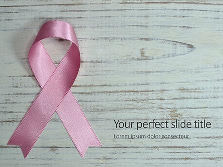 Religious/Spiritual: Plantilla de PowerPoint gratis - cinta de cáncer de mama rosa sobre fondo de madera #16094