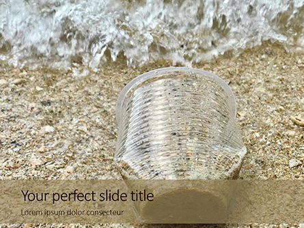 Nature & Environment: Used Plastic Cup On Sand Presentation #16098
