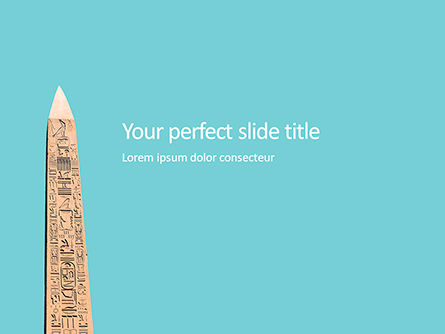 Education & Training: Modello PowerPoint - Obelisco di luxor #16114