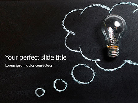 Business Concepts: Light Bulb on Chalkboard Presentation #16123