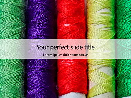 Careers/Industry: Modello PowerPoint Gratis - Colorful threads closeup #16130