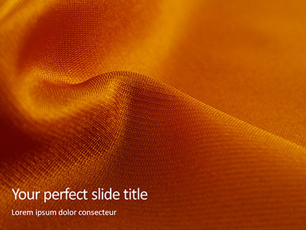 Abstract/Textures: Modello PowerPoint Gratis - Orange silk fabric with soft folds #16134