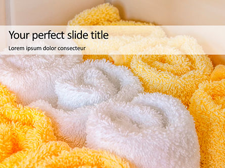 Careers/Industry: Modello PowerPoint Gratis - White and yellow wool fluffy towels #16135
