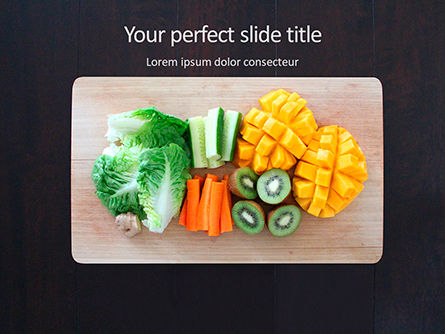 Food & Beverage: Healthy Food on Cutting Board Presentation #16136