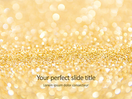 Abstract/Textures: Templat PowerPoint Golden Festive Christmas Background #16138