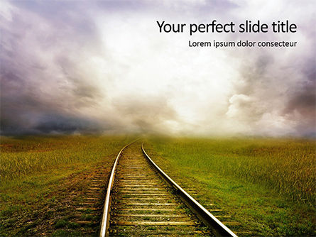 Cars and Transportation: Railway Tracks Gratis Powerpoint Template #16147
