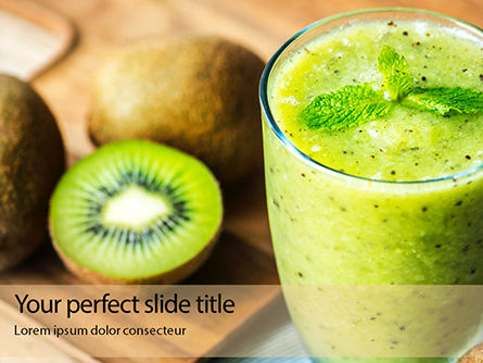 Food & Beverage: Modello PowerPoint - Fresh juice made from kiwi fruit #16154