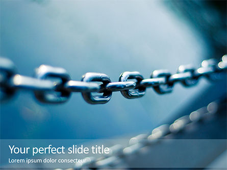 Construction: Plantilla de PowerPoint - stainless steel chain #16155