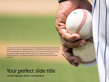 Sports: Modello PowerPoint - Man holding two baseballs #16156
