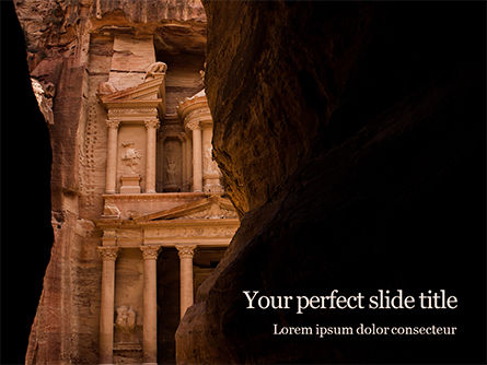 Art & Entertainment: Entrance Of City Of Petra Gratis Powerpoint Template #16159