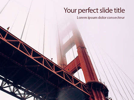 America: Modello PowerPoint Gratis - The golden gate bridge from below #16163