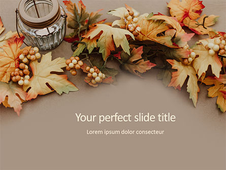 Holiday/Special Occasion: Modello PowerPoint - Autumn and thanksgiving concept #16170
