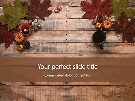 Art & Entertainment: Autumn Pumpkin Decoration Gratis Powerpoint Template #16178