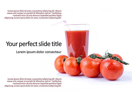 Food & Beverage: Modelo do PowerPoint - tasty tomato juice and tomatoes #16188