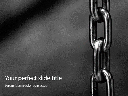 Utilities/Industrial: Stainless Metal Chain PowerPoint Template #16192