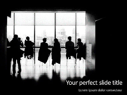 People: Silhouette of group of people in a bar PowerPoint Vorlage #16199