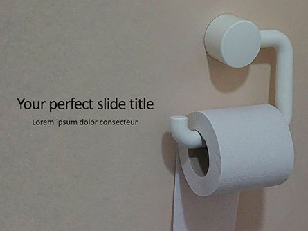 General: Roll of toilet paper in the holder Kostenlose PowerPoint Vorlage #16204
