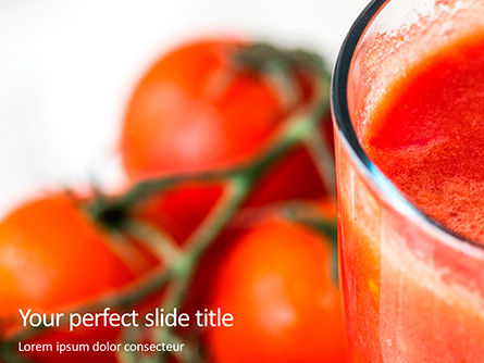 Food & Beverage: Tomato Juice Presentation #16205