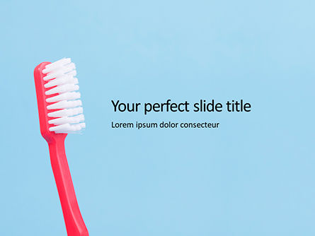 Medical: toothbrush on blue background - 無料PowerPointテンプレート #16207