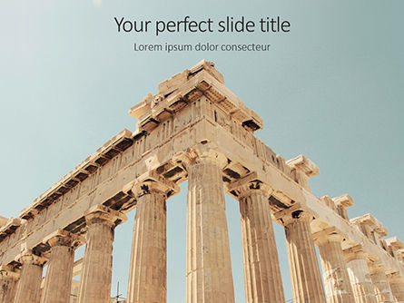 Construction: Modello PowerPoint Gratis - Parthenon temple on a bright day #16210