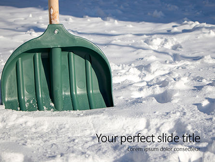 Nature & Environment: green snow shovel - PowerPointテンプレート #16216