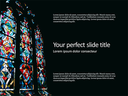 Art & Entertainment: Basilica Stained Glass Window Gratis Powerpoint Template #16220