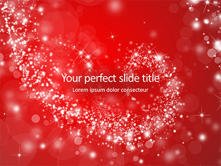 Abstract/Textures: Templat PowerPoint Gratis Silver Shine Stars Lights Swirl On Red Background #16234
