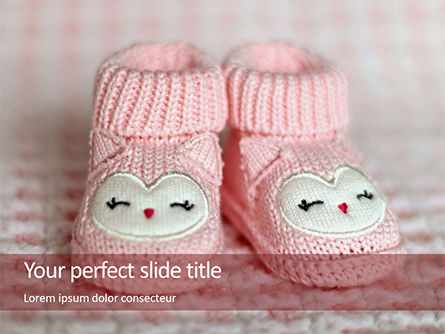 Holiday/Special Occasion: Modèle PowerPoint gratuit de pink baby boots #16236