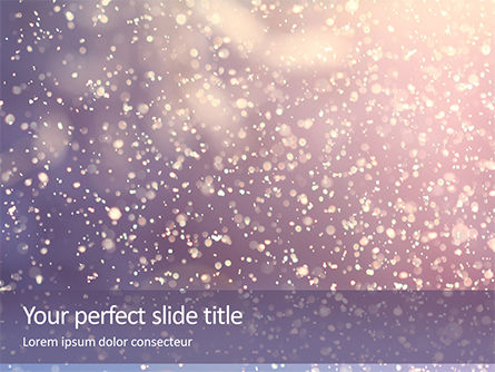Nature & Environment: Templat PowerPoint Gratis Falling Snow Background #16238
