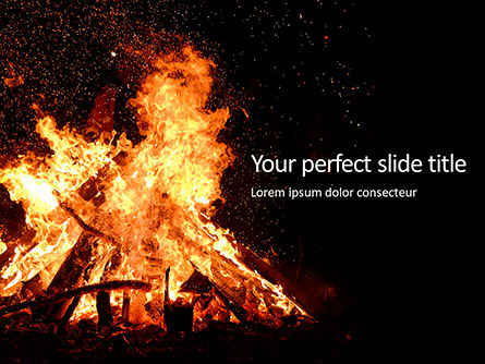 Religious/Spiritual: Night Bonfire Gratis Powerpoint Template #16243