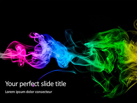 Abstract/Textures: Templat PowerPoint Beautiful Colorful Smoke On Black Background #16245