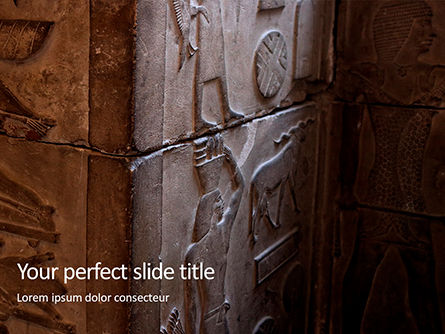 Art & Entertainment: Plantilla de PowerPoint gratis - gray concrete wall with pharaoh emboss #16246