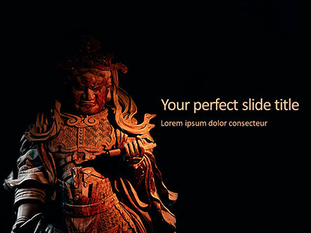 Art & Entertainment: Samurai Sculpture Gratis Powerpoint Template #16248