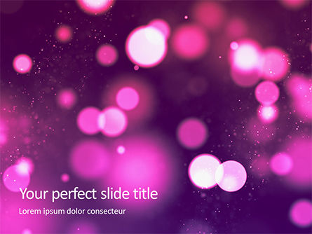 Abstract/Textures: Templat PowerPoint Pink Lights Bokeh Background #16256