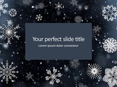 Abstract/Textures: Snowflakes on Dark Background Presentation #16258
