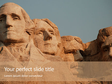 America: Mount Rushmore PowerPoint Template #16272