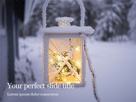 Holiday/Special Occasion: Christmas Lantern Gratis Powerpoint Template #16285